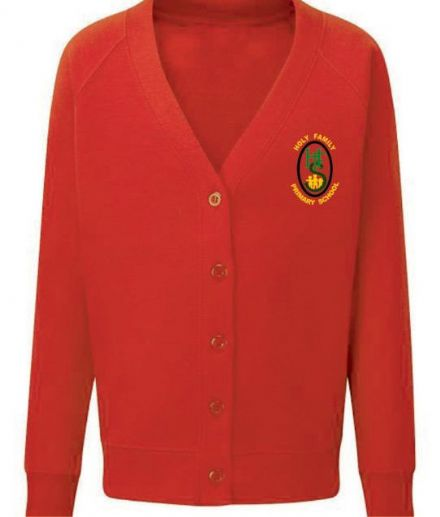 Holy Family Primary Red Cardigan